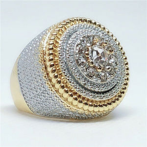 Other - Men's GP Two Tone 925 Sterling Silver Ring Sz 10